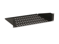 Kendall Howard 2U vented cantilever shelf with 12 inch depth, kh-3000-1-002-02