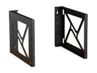 Kendall Howard 8U wall modular mount rack pair