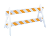 Double A-frame traffic barrier