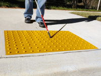 ADA detectable warning road pavers, Safety Yellow