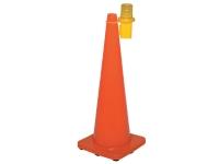 Amber traffic cone light