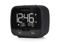 Black Teleadapt chargetime plus alarm clock
