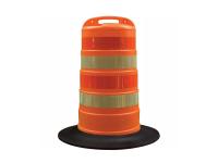 Orange Diamond grade traffic channelizer barrel drum with 4