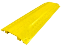 40' long Yellow poylurethane drop over cable protector with 4