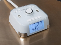 Cubie time Power data clock, white