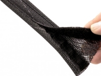Hook & Loop type Flexo wrap sleeving, black