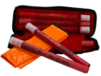 Emergency road safety kit, vest & flares