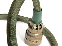 green nomex braided sleeving with connector