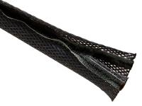 Black flexo wrap braided sleeving