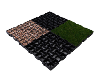 Geogrid driveway paver