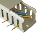 Grey PVC closed slot wire duct