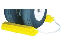 Heavy duty military aircraft wheel chocks