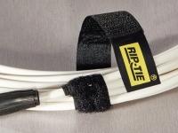 Rip-Tie Velcro heavy duty cable wrap, black color