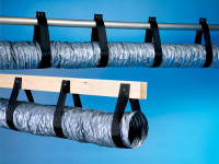HVAC duct support webbing with 300' roll application example