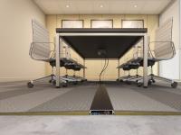 Connectrac in carpet 3.7 inch graphite powder coat