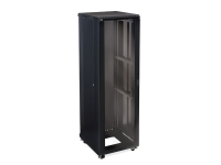 kh-3101-3-024-42 42u linier server cabinet glass solid doors 24 inch depth