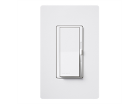 White 1-DIVA 3-speed quiet lutron fan control, single pole or 3-way fan control, 1.5Al, G