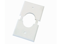 White single gang split-port wall plate, ml1gs-wh