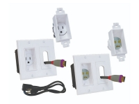 White Midlite decor in-wall power and cable manager for wall mounted tv