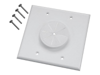 White double wall-port with flex grommet wall plate, ml2gwh-gr2