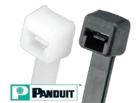 Panduit cable ties, black and natural