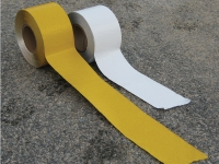 Pavement safety tape, available colors