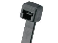 Black polypropylene zip tie