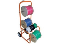 cable caddy wire dispenser in use with multiple spools