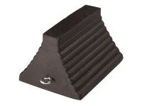 Road block wheel chock, black