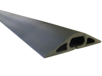 Black rubber duct-style cord cover