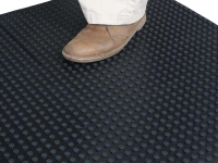 Rubberform black rooftop walkway mat