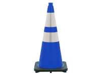 JBC Safety Cone, 7 lbs, Blue with double reflective collar