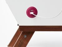 Installed Salt USB charger, round, white