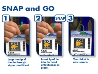 Instruction for using ski tag ties