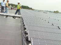 solar panel snake tray cable trays in use on solar farm