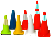 Standard traffic cones, multi- colors and types