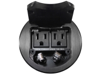 FSR t3-ac2cp-blk black 3.5 inch t3 cable pull table box round