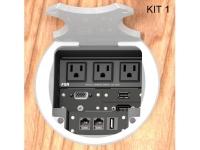 FSR multiple power and multiple data ports table box aluminum