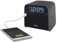 Ihome HBN22 alarm clock with usb charging phone