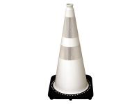 Traffic cone, black base/white 28