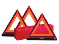 Warning triangles for road emergency