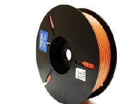 paper twist tie material spool in orange