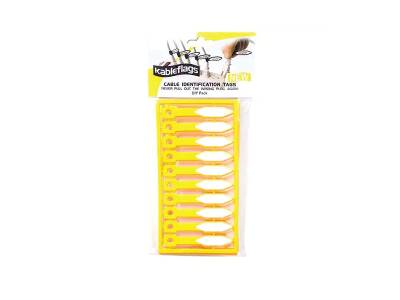 50 Pcs Per Pack KableFlags Blank Write-On Rubber Wire Label Tags